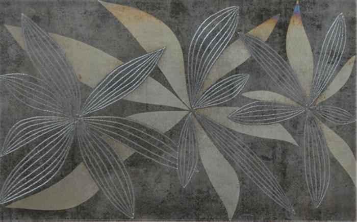 INSERTO GLAMUR FLOWERY GRAY 25x40