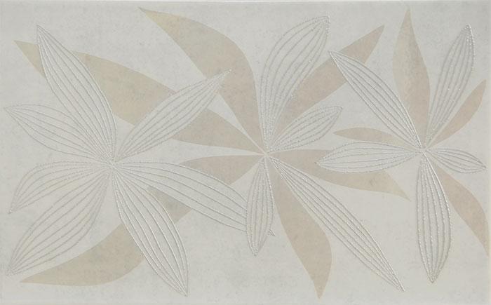 GLAMUR FLOWERY WHITE 25x40