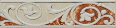 Hera Rosso listela 6x25