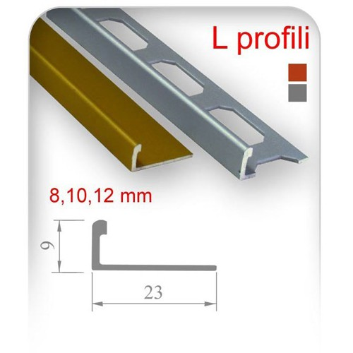 L Profili (8mm, 10mm, 12mm)